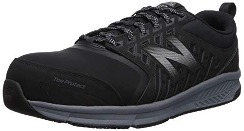 New Balance Men's 412v1 Work Industrial Shoe, Black/Silver, 12 D US (Best Comfortable Work Shoes For Men)