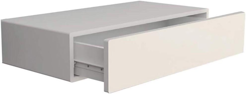 GUOWEI Estantes De Pared Flotantes Almacenamiento Monitor Organizador Ornamento Madera Caj/ón Moderno Color : Blanco, Tama/ño : 60x28.5x13.3cm