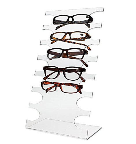 Source One Deluxe 7 Tier Clear Acrylic Sunglasses Eyeglasses Display Stand - Eyeglasses 7