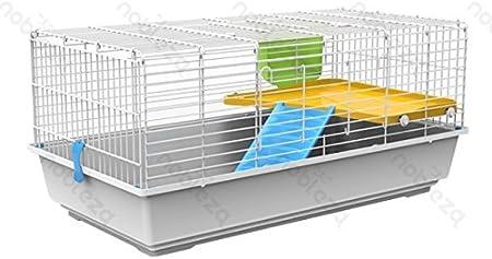 forpet® 001156 jaula para conejos, Jaula para Conejos Enanitos, casita para conejo, Jaula para conejo Super accessoriata, Jaula para conejo con comedero, Jaula con escalera para conejo. Jaula para Conejos grandes. 102