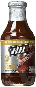 Weber Sweet & Thick Honey BBQ Sauce, 18 oz.