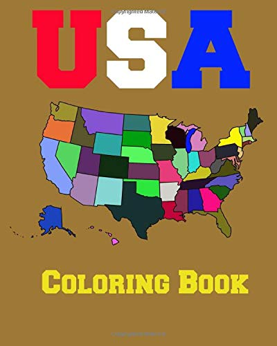 USA Coloring Book: 50 States Coloring Book United States Of America  Color 50 States: Westfall, Lawrence: 9781708544324: Amazon.com: Books