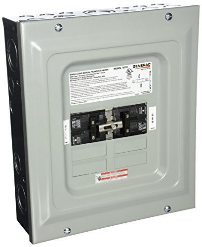 Switches Generac Transfer (Generac 6333 60-Amp Single Load Double Pole Manual Transfer Switch for Portable Generators)