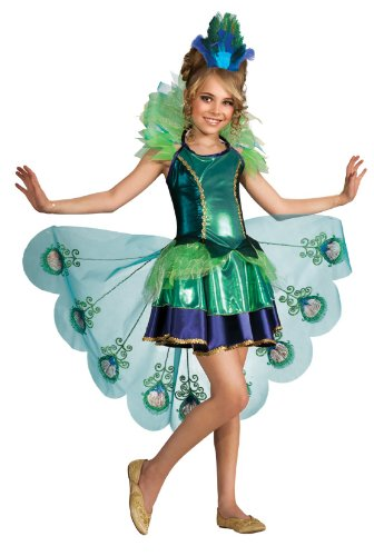 Tween Rainbow Unicorn Halloween Costumes - Peacock Costume,