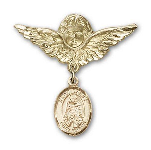 Icecarats Or Bijoux De Créateurs Rempli R. Daniel Charme Ange Broche De Badge 1 1/8 X 1 1/8