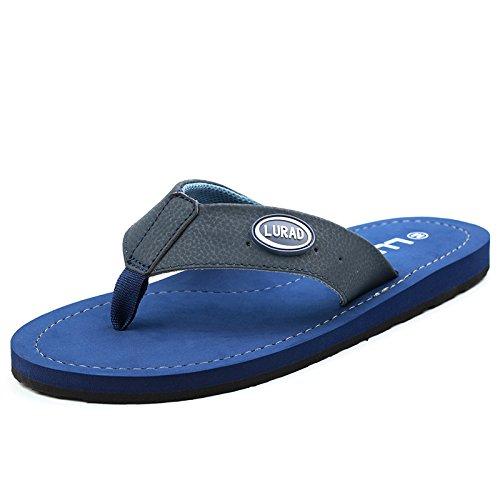 Les tongs hommes, pantoufles en cuir de la mode d'été, résistant à l'usure des sandales antidérapantes, chaussures de plage respirant
