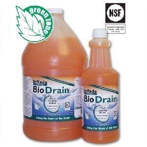 Invade 32 oz Bio Drain Quart Restaurant Drain Gel Organic Treatment ~ Eliminates Odors, Drain Flies, Phorid Flies, Frui
