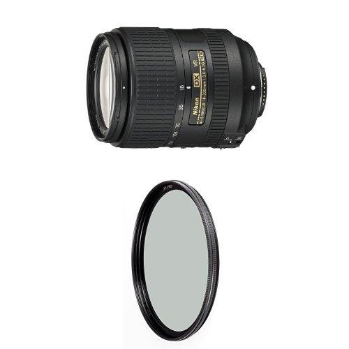 Nikon 18-300mm f/3.5-6.3G ED VR Auto Focus-S DX Nikkor Lens w/ B+W 67mm XS-Pro HTC Kaesemann Circular Polarizer by Nikon