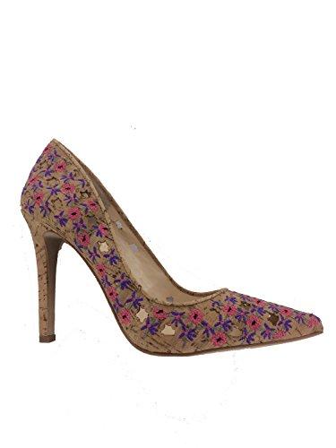 Cassani Pink Pumps Simpson Jessica Floral Spitzen Womens Wildleder Multi Klassische 70xO0EqwF