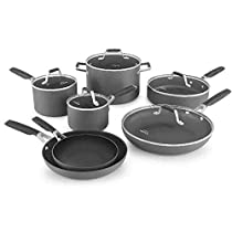 Select by Calphalon 12 Piece Hard-Anodized Non-Stick Cookware Pots and Pans Set