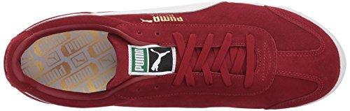 PUMA Men's Roma Suede Fashion Sneaker Red Dahlia-puma White-puma Team Gold-amazon Green sale finishline odES3tVUC