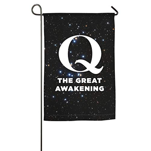 QAnon The Great Awakening Family Single-Sided Decorative Garden Flag Banner for Yard Home 12 X 18 Inch,18 X 27 Inch