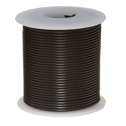 Remington Industries 30PTFESTRBLA100 30 AWG Gauge Stranded Hook Up Wire, 100 feet Length, Black, 0.0100'' Diameter, PTFE, 600 Volts