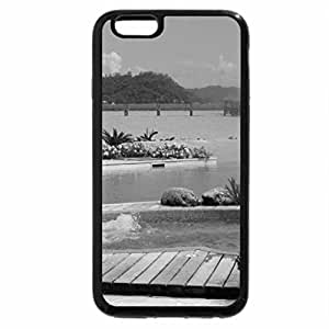 iPhone 6S Plus Case, iPhone 6 Plus Case (Black & White) - St Regis Luxury Resort Bora Bora - private swimming pool jacuzzi hot tub Polynesia South Se