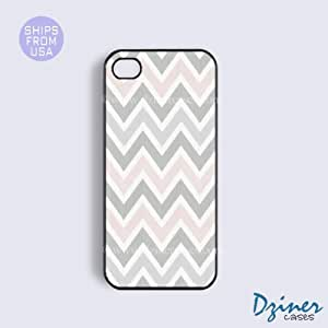 iPhone 5 5s Case - Grey Pink Chevron iPhone Cover