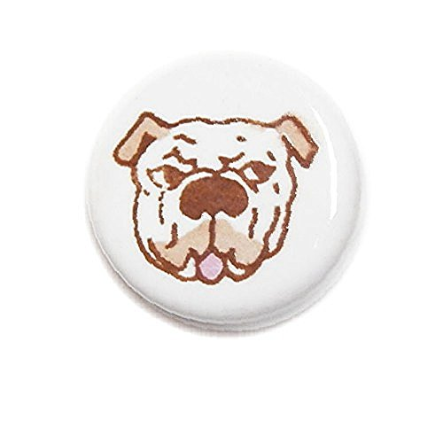 - CERAMIC BEADS 21mm DISC DOG BREED BULLDOG 20pc