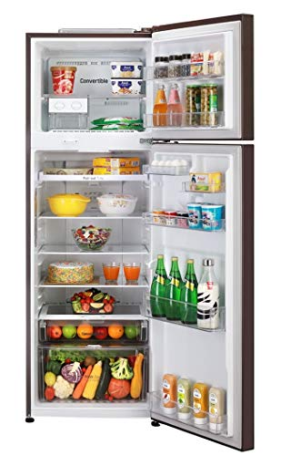 LG 360 L 2 Star Inverter Frost-Free Double Door Refrigerator (GL-T402JRS2, Russet Sheen) 2021 July Frost-free refrigerator; 360 litres Energy Rating: 2 Star Warranty: 1 year on product, 10 years on compressor