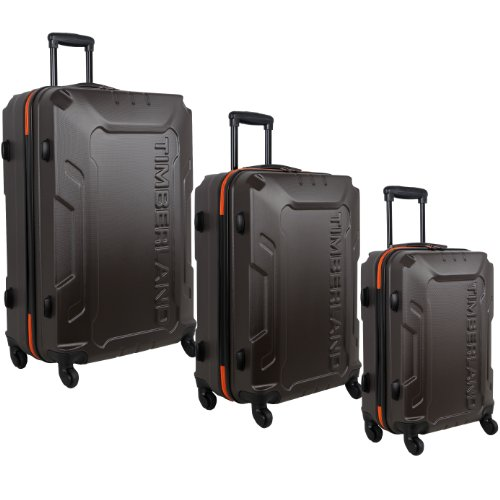 Timberland 3 Piece Hardside Spinner Luggage Set, Bronze