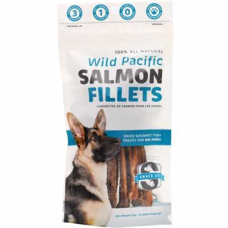 (Snack 21 Salmon Fillet for Large Dogs , 2.3-oz resealable)