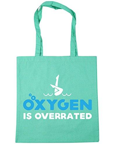 HippoWarehouse es de oxígeno overrated sincronizada bolsa de la compra bolsa de playa 42cm x38cm, 10litros verde menta
