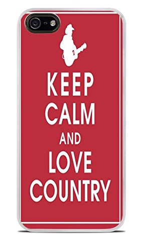 Keep Calm and Love Country White Hardshell Case for iPhone 5 / 5S