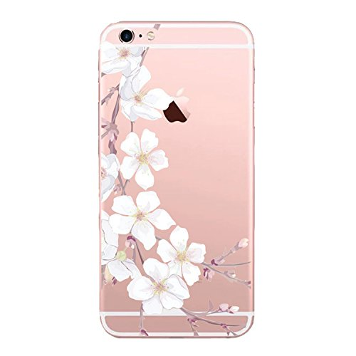 Price comparison product image Beryerbi iPhone 6/6s Case Clear Ultra Thin Soft TPU Shock Resistant Protection Cover (3, iPhone 6/6s)