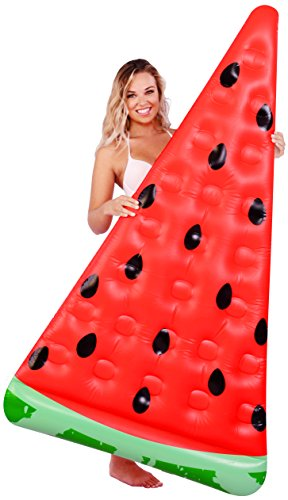 Kangaroo Pool Floats; Watermelon Slice Pool Raft, 6 Ft.