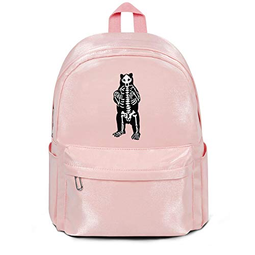 - Maine Black Bear Skeleton College Bookbag Classic Nylon Packable Travel Daypack Backpack Bag Purse