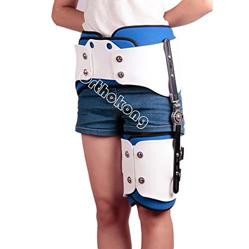 Hip Joint Dislocation Of Hip Abduction Orthosis Fixation Hinge Adjustable Waist Leg Brace Femur Injury(Both) FREE SHIPPING BY EMS ABOUT 8-10 Days by Orthokong (Image #4)