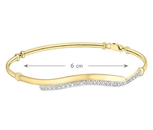 Carissima Gold - Bracelet - Femme - Or jaune (9 cts) 4.02 Gr - Diamant