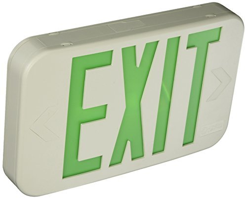 (Lithonia EXG LED M6 Green LED Exit Sign with White Thermoplastic Housing by Lithonia Lighting)