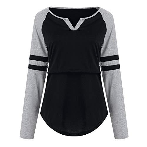 Maternidad shirt Embarazo Verano Gris Premama Malloom Manga Premamá Tops Camiseta Corta Embarazada Para Ropa Lactancia T Mujer De HtYOHw4q