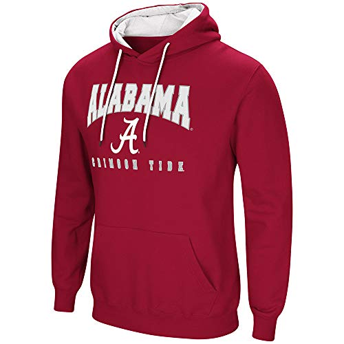 Pullover Ultimate Cotton Hooded (Colosseum Alabama Crimson Tide Bama Men's Hoodie Pullover Hooded Sweatshirt (Small))