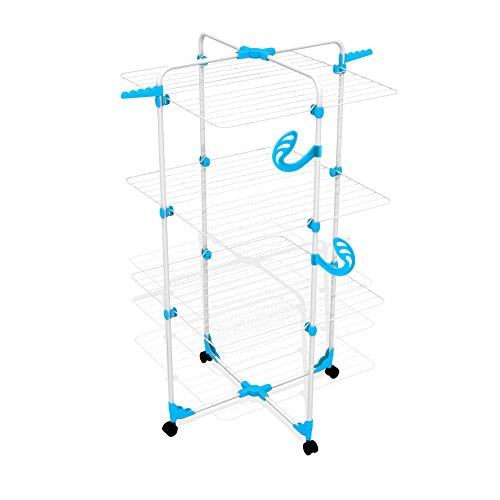 Wäscheturm 30m blau mit Rollen Wäsc