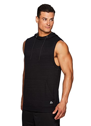 RBX Active Men's Sleeveless Pullover Hoodie Black M