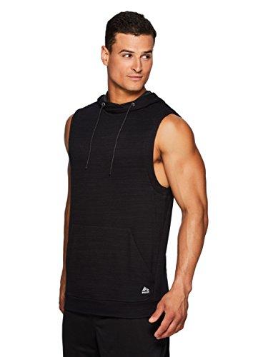 RBX Active Men's Sleeveless Pullover Hoodie Black L (Grizzlies Sweatpants)