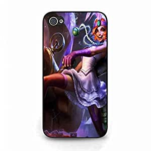 LOL jinx Pattern Apple iPhone 4 Phone Case Cover Apple iPhone 4 Phone Case Cover LOL jinx Case Cover For Apple iPhone 4