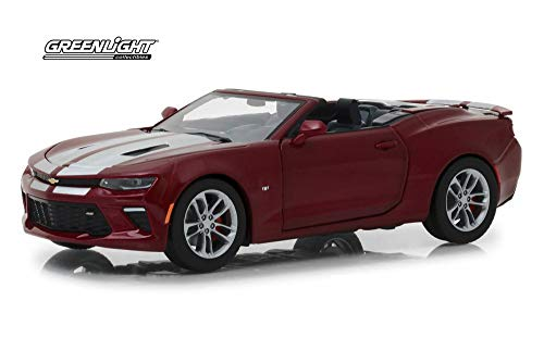 2017 Chevy Camaro SS Hard Top Convertible, Garnet Red Tincoat - Greenlight 18245 - 1/24 Scale Diecast Model Toy Car ()