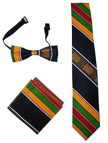 (Kente Tie Set - Style 1 (Multi Tie Black panter))