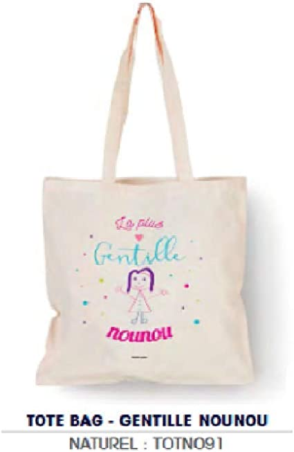 Bubble Gum – Tote Bag Natural Gentille Nounou – 100% algodón ...