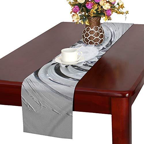 Art Glass Bowl Glass Art Shell Table Runner, Kitchen Dining Table Runner 16 X 72 Inch for Dinner Parties, Events, Decor ()