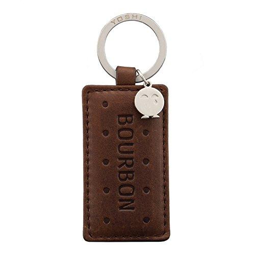 Chocolate Nappa Leather (Yoshi Nappa Leather Bourbon Biscuit Keyring)