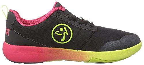 gimnasia Court Negro Flow Zumba Mujer de Footwear black Zapatillas Zumba gqEWYn7