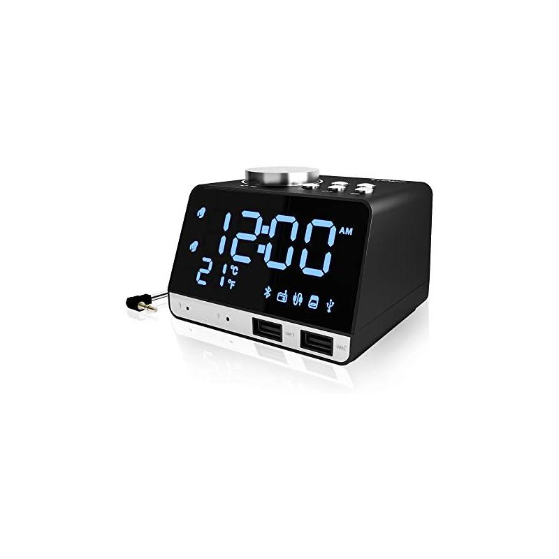 Clock Radio, Alarm Clock Radio for Bedro
