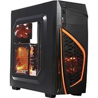 DIYPC Zondda-O ATX Mid Tower Gaming Computer Case Chassis (Orange)