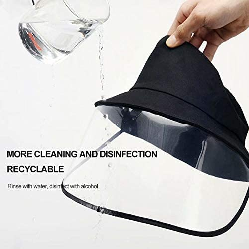 Full Face Protect Shield Fisherman Hat Anti-Fog Safety Face Mask Guard for Camping Hiking Fishing Travel with Transparent Cover