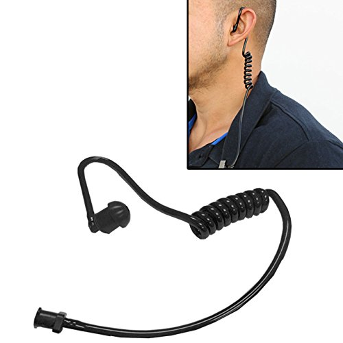 MaximalPower Twist On Replacement Black Coiled Acoustic Tube for Two-Way Radio Surveillance and Listen Only Earpiece (1 Pack)