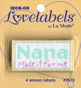 Label Nana Made It For Me Iron-on 4ct. (3 Pack)