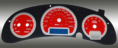 US Speedo MON 055 - Daytona Edition Gauge Faces - Red / Blue Night - 120 MPH 4 Ga - for: Chevy Monte Carlo / Impala
