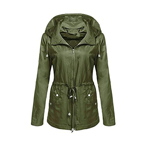 Giacca Impermeabile Capispalla Fangcheng Donna Inverno Autunno Green Cappotti Da A Army Basic Vento Csual 1dw5wq